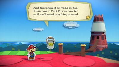 The Crimson Tower from Paper Mario: Color Splash