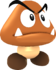 Rendered model of the Big Goomba enemy in Super Mario Galaxy.