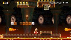 Castle level in Super Mario Maker