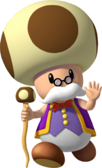 Artwork of Toadsworth from Super Mario Sunshine (also used in Mario Party 7, Mario Super Sluggers and Mario Party: The Top 100)