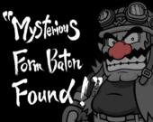 Wario's title page in WarioWare: Smooth Moves
