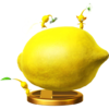Yellow Pikmin trophy from Super Smash Bros. for Wii U