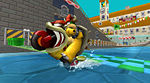 Bowser on a bike in Mario Kart Wii