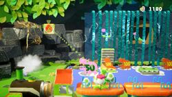Jungle Tour Challenge, the third level of Rumble Jungle in Yoshi's Crafted World.