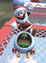 Mario (Santa) performing a trick.