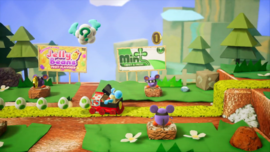 Mousers and Magnets stage from Yoshi's Crafted World