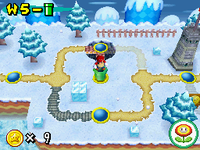 One of the Warp Pipes in World 5 in New Super Mario Bros.