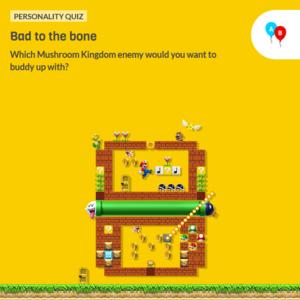Icon for Nintendo Mushroom Kingdom Fun Personality Quiz