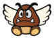 The Paragoomba sprite from Paper Mario: Color Splash.