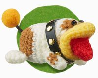 Picture of Poochy from an article about his role in Poochy & Yoshi's Woolly World