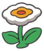 Super Mario Bros. promotional artwork: A Fire Flower