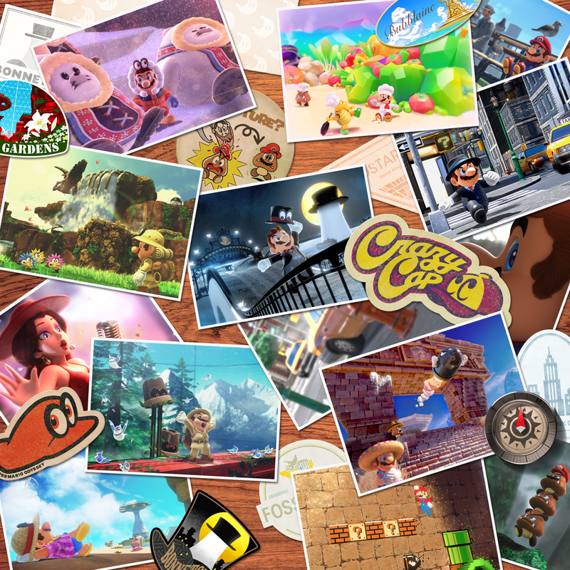 Postcard compilation from Super Mario Odyssey