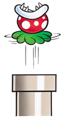 Artwork of a Jumping Piranha Plant, from Super Mario World.