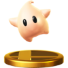 Baby Luma trophy from Super Smash Bros. for Wii U