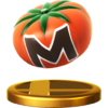 Maxim Tomato's trophy render from Super Smash Bros. for Wii U