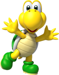 Artwork of Koopa Troopa from Super Mario Party