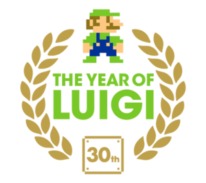 Year of Luigi logo.