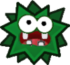 A sprite of Green Fuzzy from Paper Mario: The Thousand-Year Door