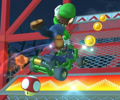 The icon of the Baby Peach Cup challenge from the Hammer Bro Tour and the Waluigi Cup challenge from the April – May 2021 Sydney Tour in Mario Kart Tour.