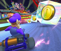The icon of the Toad Cup challenge from the 2019 Paris Tour and the Koopa Troopa Cup challenge from the Flower Tour in Mario Kart Tour.