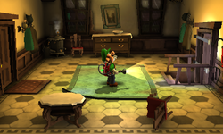 The Mudroom segment from Luigi's Mansion: Dark Moon.
