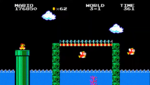 Screenshot of World 3-1 from Super Mario Bros. Special.