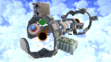 """A screenshot of Stone Cyclone Galaxy during the """"Silver Stars on the Cyclone"""" mission from Super Mario Galaxy 2."""