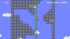 Perilous Vine Climb level in Super Mario Maker