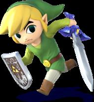 Artwork of Toon Link for Super Smash Bros. for Nintendo 3DS / Wii U