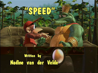 The title card of the episode Speed from the Donkey Kong Country television series