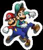 A Sticker of Mario and Luigi.