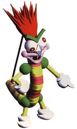 Bowyer as he appears in Super Mario RPG: Legend of the Seven Stars.
