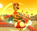 Thumbnail of the Daisy Cup challenge from the Valentine's Tour; a Combo Attack bonus challenge set on SNES Choco Island 2T. (Later reused for the September 2021 Sydney Tour's Mario Cup)
