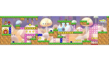 Miiverse screenshot of the 88th official level in the online community of Mario vs. Donkey Kong: Tipping Stars