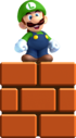 Mini Luigi artwork from New Super Luigi U