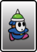 A Blue Spike Guy card from Paper Mario: Color Splash