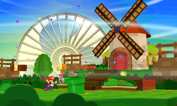 Screenshot of Hither Thither Hill in Paper Mario: Sticker Star