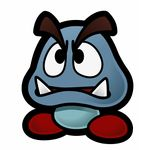 The artwork of a Gloomba from Paper Mario: The Thousand-Year Door.
