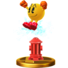 Pac-Man's alternate trophy, from Super Smash Bros. for Wii U.