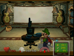 The Projection Room from Luigi's Mansion