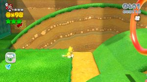 Other hidden Luigi in Really Rolling Hills in Super Mario 3D World.