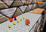 Mario in the Vanish Cap Under the Moat