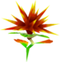 Rendered model of the prickly plant in Super Mario Galaxy.