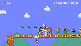 Super Star Dash level in Super Mario Maker