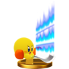 Kirby's trophy render from Super Smash Bros. for Wii U