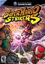 Super Mario Strikers cover art. Copyright © Nintendo of America, Inc., 2005-2006. All rights reserved.