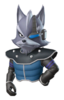 A Sticker of Wolf O'Donnell's Star Fox Command appearance in Super Smash Bros. Brawl
