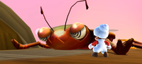 Bugaboom defeated in Super Mario Galaxy 2