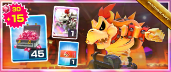 The Dry Bowser Pack from the Hammer Bro Tour in Mario Kart Tour