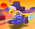 The icon of the Fire Bro Cup challenge from the Peach vs. Daisy Tour in Mario Kart Tour.
